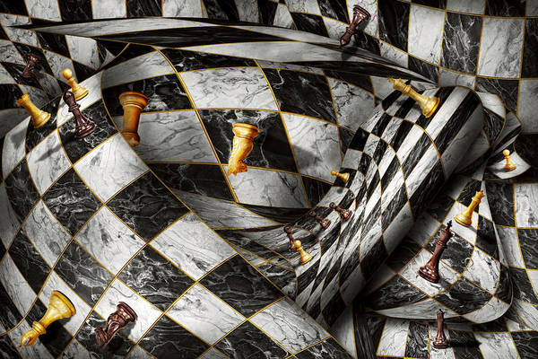 Chess Print featuring the digital art Hobby - Chess - Your Move by Mike Savad