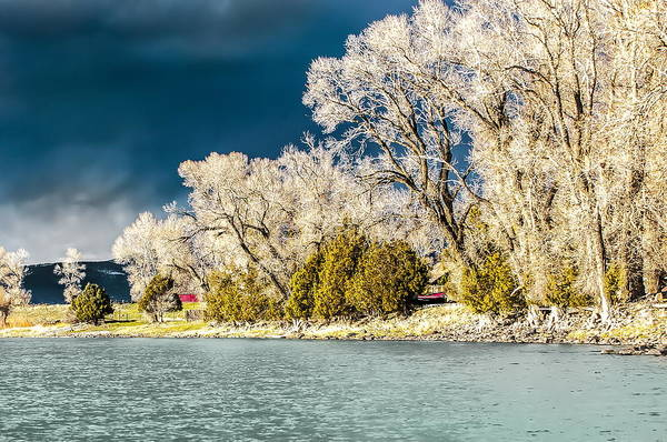Yellowstone River Art Print featuring the photograph Hole In The Cloud by James Langner