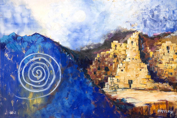 Native American Print featuring the painting Hopi Spirit by Jerry McElroy