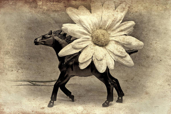 Yellow Art Print featuring the photograph Horse Dream by Jeff Gettis