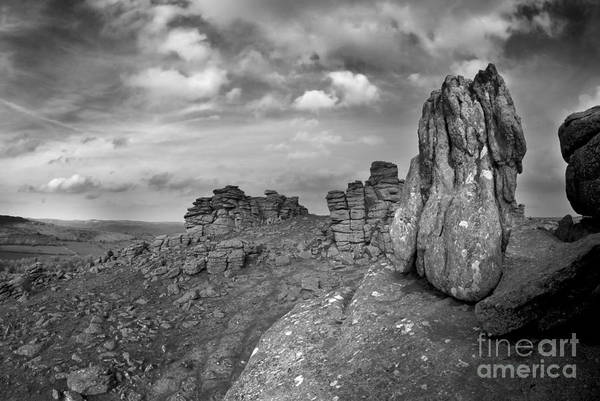 Hound Tor Art Print featuring the photograph Hound Tor Dartmoor by Colin Munro
