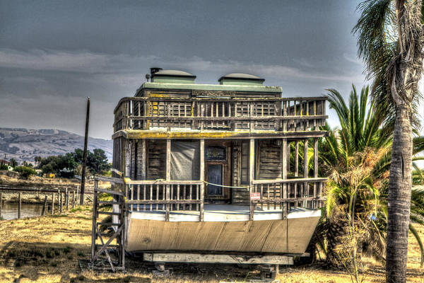 Alviso Art Print featuring the photograph Houseboat by SC Heffner