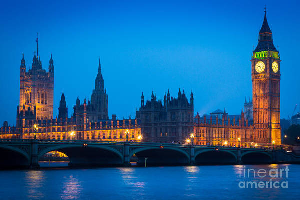 Big Ben Art Print featuring the photograph Houses Of Parliament by Inge Johnsson