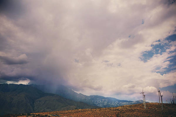 Palm Springs Art Print featuring the photograph I Predict Rain by Laurie Search