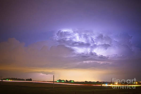Lightning Art Print featuring the photograph I25 Intra-cloud Lightning Strikes by James BO Insogna