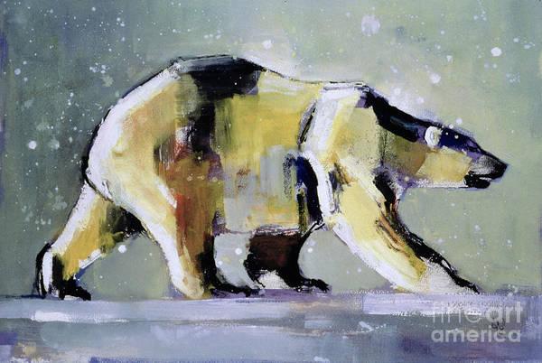 Polar Bear Print featuring the painting Ice Bear by Mark Adlington