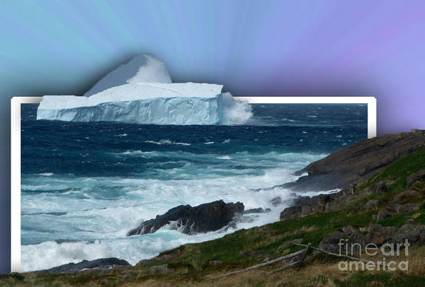 Oob Iceberg Art Print featuring the photograph Iceberg Escape by Barbara Griffin