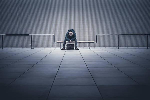 Bench Art Print featuring the photograph I'm Tired. by Yasuhiko Yarimizu
