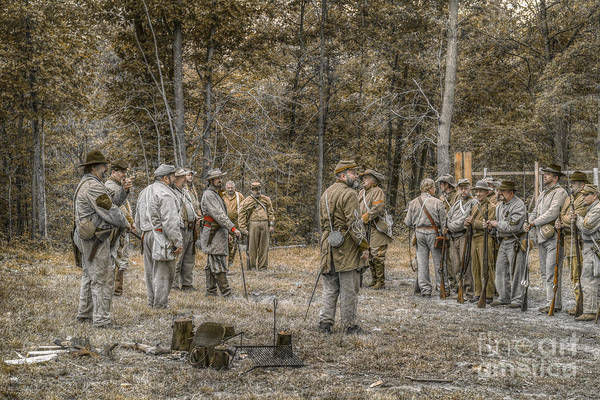 Images Of The Civil War Art Print featuring the digital art Images Of The Civil War Confederate Soldiers by Randy Steele