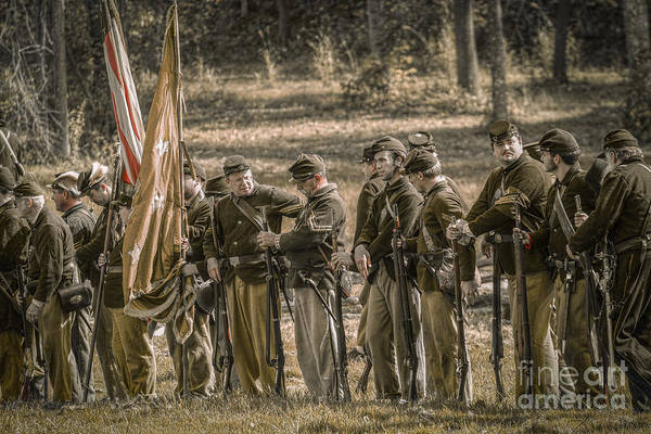 Images Of The Civil War Art Print featuring the digital art Images Of The Civil War Union Soldiers by Randy Steele