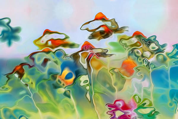 Daisies Art Print featuring the digital art Imagine - Frc01v6 by Variance Collections