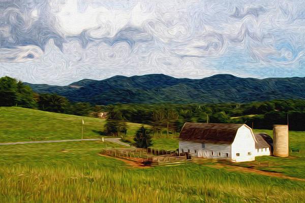 Farm Art Print featuring the painting Impressionist Farming by John Haldane