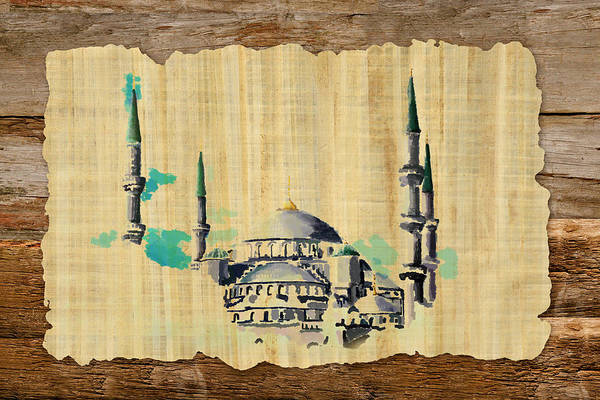 Islamic Art Print featuring the painting Impressionistic Masjid E Nabwi by Catf