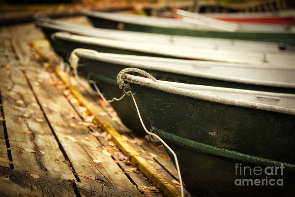 Boat Pictures Art Print featuring the photograph In A Line by Todd Bielby