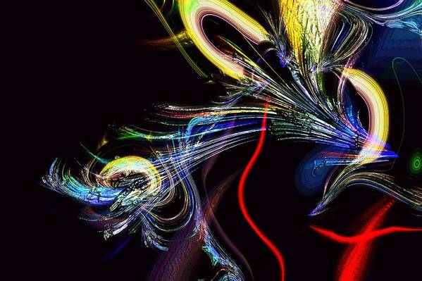 Abstract Art Print featuring the photograph In Celebration Of Things Cerebral by Richard Thomas