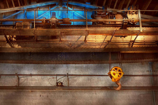 Steampunk Art Print featuring the photograph Industrial - The Gantry Crane by Mike Savad