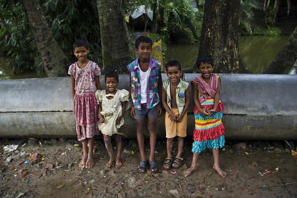 Village Kids Art Print featuring the photograph Innocent Smile by Satyen Dasgupta