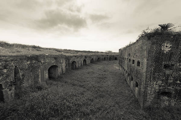 Fort Macomb Art Print featuring the photograph Inside Fort Macomb by David Morefield