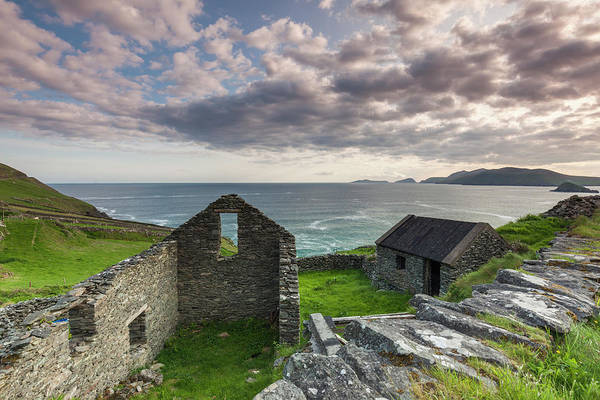 Building Art Print featuring the photograph Ireland, County Kerry, Slea Head Drive by Walter Bibikow