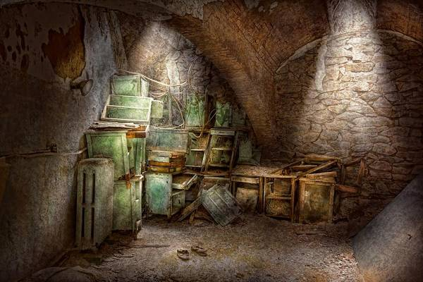 Jail Art Print featuring the photograph Jail - Eastern State Penitentiary - Cabinet Members by Mike Savad