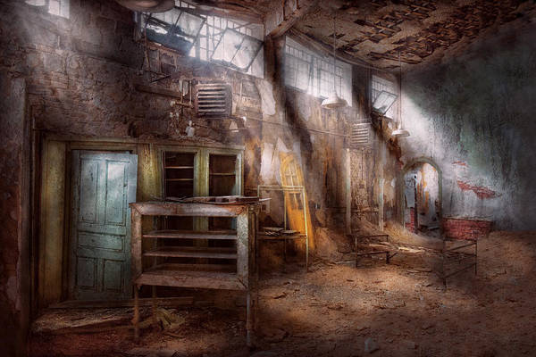 Jail Art Print featuring the photograph Jail - Eastern State Penitentiary - Sick Bay by Mike Savad