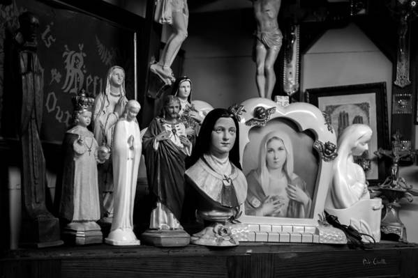 Jesus Print featuring the photograph Jesus And Mary At The Curio Shop by Bob Orsillo