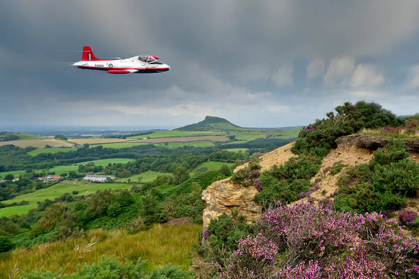 Jet Provost Art Print featuring the photograph Jet Provost Over The Cleveland Hills by Gary Eason