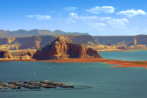 Marina Art Print featuring the photograph Jewel In The Desert - Lake Powell by Christine Till