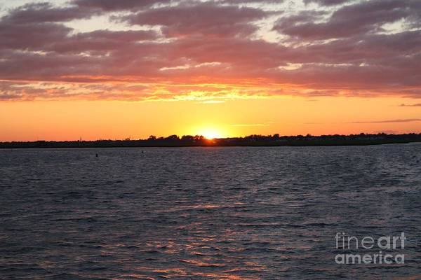 July 4th Sunset Art Print featuring the photograph July 4th Sunset by John Telfer