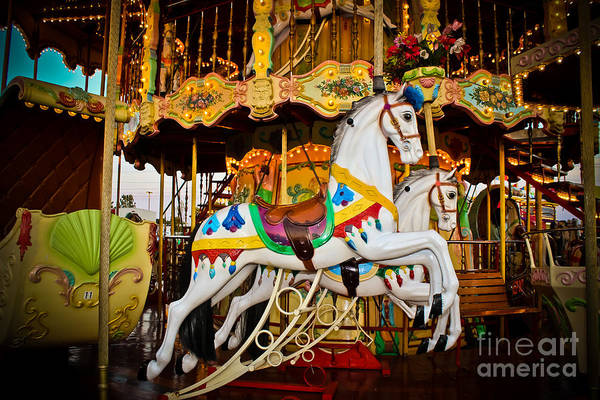 Carousel Art Print featuring the photograph Jumper by Colleen Kammerer