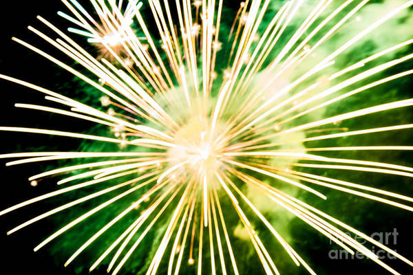 Firework Art Print featuring the photograph Kaboom by Suzanne Luft