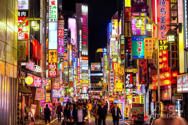 Tokyo Art Print featuring the photograph Kabuki-cho District - Shinjuku - Tokyo - Japan by Luciano Mortula