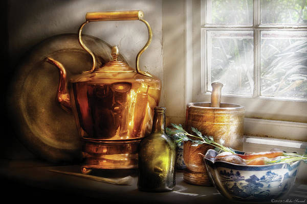 Coffee Art Print featuring the photograph Kettle - Cherished Memories by Mike Savad