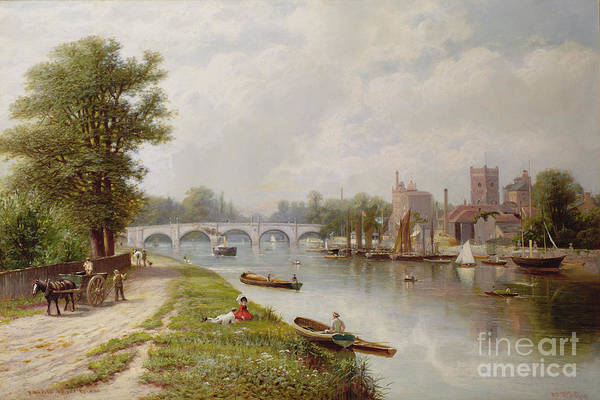 Bridge Art Print featuring the painting Kingston On Thames by Robert Finlay McIntyre
