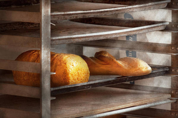Savad Art Print featuring the photograph Kitchen - Food - Bread - Freshly Baked Bread by Mike Savad