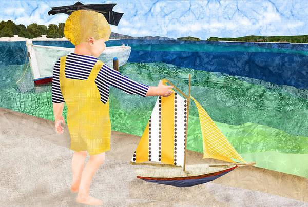 Fabric Melodies Art Print featuring the digital art La Mer by Robin Morgan
