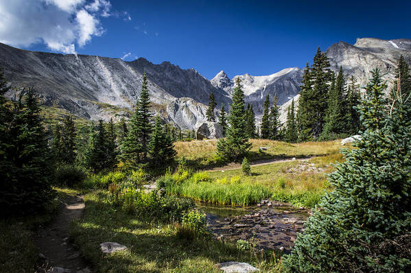 Lake Isbelle Art Print featuring the photograph Lake Isbelle Mountains by Michael J Bauer