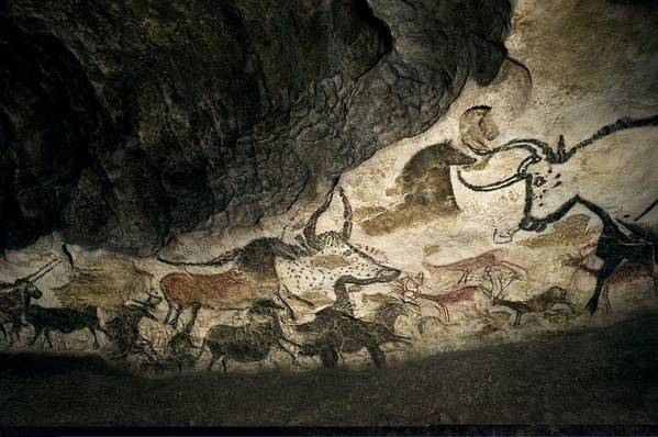 Cave Painting Art Print featuring the photograph Lascaux II Cave Painting Replica by Science Photo Library