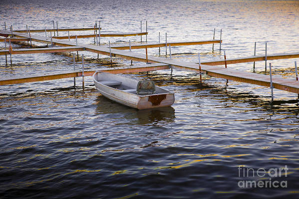 Boat Art Print featuring the photograph Last One In by Kelly Morrow