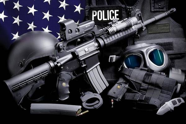 Law Enforcement Art Print featuring the photograph Law Enforcement Tactical Police by Gary Yost