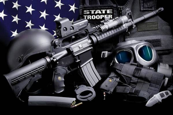 Law Enforcement Art Print featuring the photograph Law Enforcement Tactical Trooper by Gary Yost