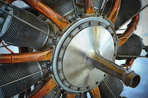 Airplane Engine Art Print featuring the photograph Le Rhone C-9j Engine by Michelle Calkins