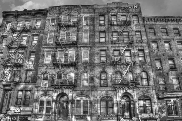 Led zeppelin art print featuring the photograph led zeppelin physical graffiti building in black and white