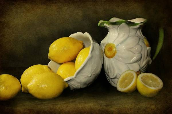 Still Life Art Print featuring the photograph Lemons Today by Diana Angstadt