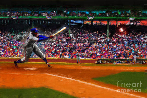 Cubs Art Print featuring the digital art Let's Play Two by Alan Greene