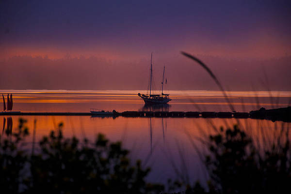 Penn Cove Art Print featuring the photograph Lifting Morning Fog by Ron Roberts