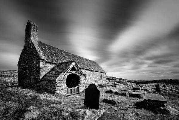Llangelynnin Church Print featuring the photograph Llangelynnin Church by Dave Bowman