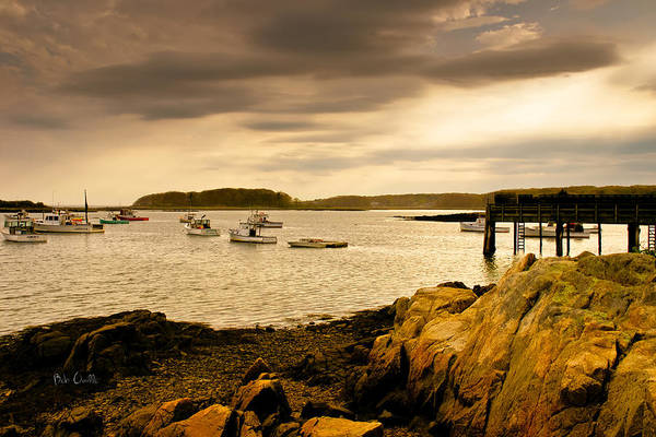 Atlantic Ocean Print featuring the photograph Lobster Boats Cape Porpoise Maine by Bob Orsillo