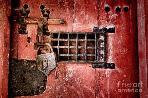 Lock Print featuring the photograph Locked Up by Olivier Le Queinec