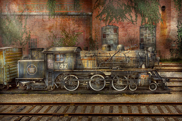 Savad Print featuring the photograph Locomotive - Our Old Family Business by Mike Savad